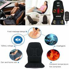 8 Mode Massage Car Seat Cushion Back Relief Chair Pad Heated Lumbar Massager ESA