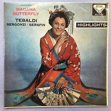 Puccini Madama Butterfly - Tebaldi - Bergonzi - Serafin - Decca SXL-2202 Ex