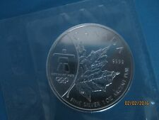 Inukshuk Edition 2008, Vancouver Olympics 2010  1 oz Silver Canadian Maple Leaf