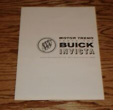 Original 1960 Buick Invicta Motor Trend Test Report Foldout Sales Brochure 60