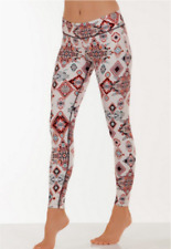 Gorgeous $75 NUX Aztec Print Multicolor Legging, L 8-12, NEW