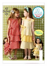 Kwik Sew SEWING PATTERN K144 Girls Dresses Age 3-10 & Dolls Dresses