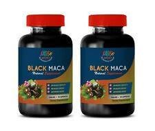 male libido enhancement - BLACK MACA - energy boost for workout gains 2 BOTTLE