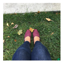 TOMS Red Mahogany Canvas Women's Classic Shoes. Style: 10008749