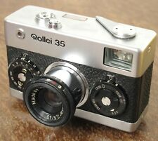 Rollei 35 35mm Film Camera w/ 40mm f/3.5 Tessar Zeiss Lens Silver Chrome