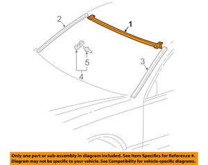 Lexus TOYOTA OEM 01-06 LS430 Windshield-Upper Molding 7553150040