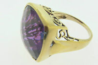 Sajen Bronze Ring by Marianna and Richard Jacobs Square Shape Purple Quartz