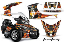 Can Am BRP RTS Spyder Amr Racing Graphic Kit Wrap Street Bike Decals FIRESTORM S