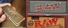 RAW Rolling 1 1/4 Paper Shred Grinder Storage Case+1 1/4 PACK UNBLEACHED CLASSIC