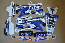 FLU TEAM GRAPHICS & BACKGROUNDS YAMAHA YZ250F YZ450F  YZF250 YZF450 06-09 WHT