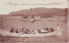 France Aix-les-Bains - Depart d'une Barque de Promenade old unused postcard