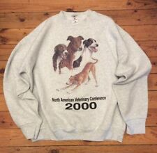Vintage North American Veterinary Conference Sweatshirt Year 2000 Whippet Dogs L
