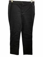 Isaac Mizrahi Women's Petite Ponte Knit Straight Pants Black Size 4P