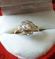 Beautiful vintage art deco 18ct gold and platinum .50ct diamond ring