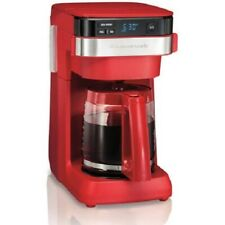 HAMILTON BEACH 12-CUP PROGRAMMABLE COFFEE MAKER, RED 46301 *DISTRESSED PKG