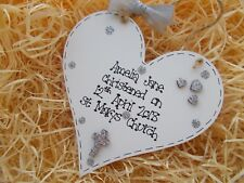 Personalised Christening Wooden Heart Gift
