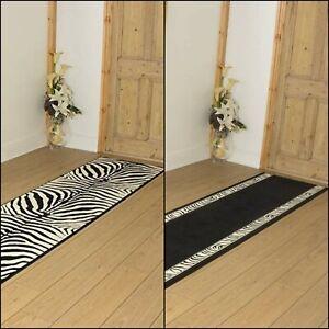runrug Extra Long Hallway Carpet Runner Rug Heavy Duty Washable Kitchen Zebra