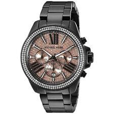 Women's Watch Michael Kors MK5879 'Wren' Luxury Watches Quartz Chrono Black Tone