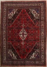 CLEARANCE! Beautiful Red Floral 7x10 Hamedan Persian Area Rug Oriental Carpet
