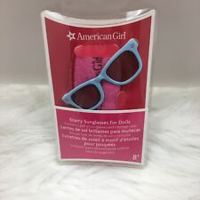"American Girl Doll Sunglasses Pink Carrying Case For 18"" Doll Play Starry Blue"