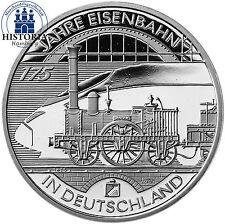 10 Euro Eisenbahn Gedenkmünzen der BRD aus Silber