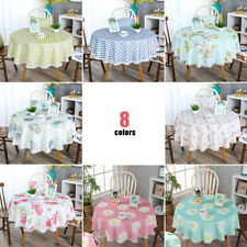 Home Round Home Picnic Waterproof Oil-proof Tablecloth Table Desk Cloth Cover