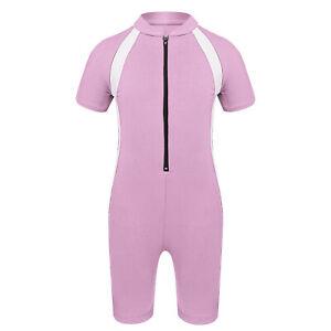 Unisex Kids Tankini Swimsuits Shorty Wetsuit Bathing Suits Rash Guard Swimwear