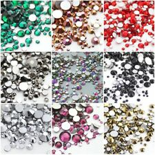 720p Mixed Flat Back Nail Art Rhinestones Crystal Diamond Gem Decoration Crafts