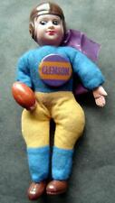 Vintage Football Player Japan Celluloid Head Clemson University Pin Blue Gold