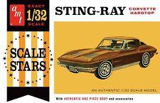 1963 Chevy Corvette Stingray 1/32 scale skill 2 AMT model kit#1112