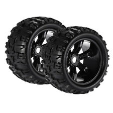 2x 1/8 RC Car Monster Trucks Tyres Tire&Wheel for E-MAXX Savage Spare Parts
