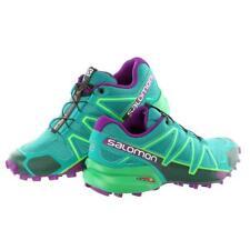 Salomon Women's SPEEDCROSS 4 Trail Running Shoe  (Size 11)  Veridian Green