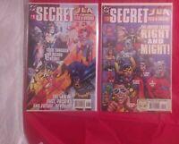 JLA SECRET FILES AND ORIGINS #1 #2 IN CRISIS 1998 JUSTICE LEAGUE BATMAN DC VF