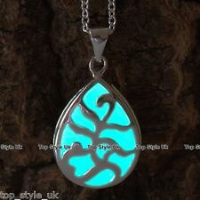 Aqua Glow in the Dark Necklace Birthday Christmas Gift for Mum daughter Wife Sis