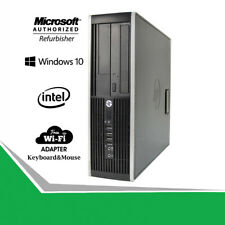 Fast HP Desktop SFF Computer 6300 Pro Quad Core i5 RAM SD-HD Windows Pro WiFi PC