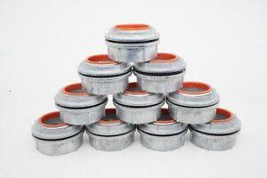 "New Lot of 10 Genuine Myers Scru-tite Hub Conduit Fittings ST-6 2"" Zinc ShpsFREE"