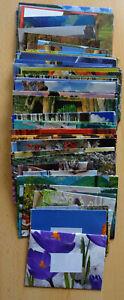 120 Briefumschläge, bunt, verschiedene Größen, selbst gebastelt, mit Adressaufkl