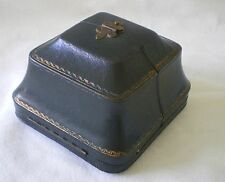 RARE ANTIQUE VICTORIAN GILDED LEATHER BOX FOR JEWELLERY OR SILVER ITEM C 1900
