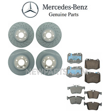 For MB W205 C300 C400 Front & Rear Brake Pad Sets & 2 Brake Discs Rotors OES