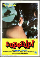 SUPERUP! MANIFESTO CINEMA FILM EROTICO SOFTCORE RUSS MEYER 1978 MOVIE POSTER 2F