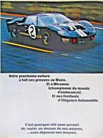 PUBLICITÉ DE PRESSE 1966 FORD VICTORIEUX AU 24 HEURES DU MANS 1966 - ADVERTISING