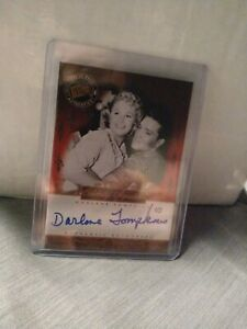 """DARLENE TOMPKINS 2008 PRESS PASS AUTHENTIC AUTO CARD  """"ELVIS BY THE NUMBERS"""