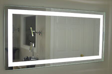 """MAM87236 72""""w x 36""""t lighted vanity mirror, wall mounted, LED, makeup mirror"""