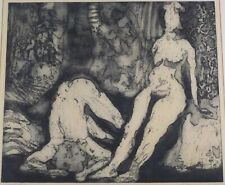 Vintage Original 1964 Etching Interior by Kenneth Becker Listed