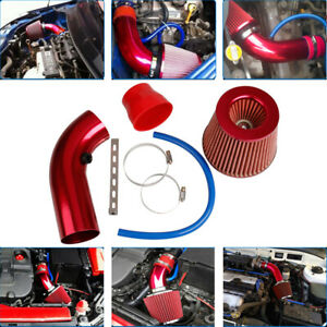 Car Cold Air Intake Filter Induction Kit Pipe Power Flow Hose System Accessories