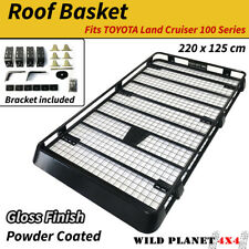 Roof Basket for TOYOTA Land Cruiser 100 Series Steel Roof Rack Powder Coated 4WD