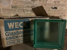 """Green Glass Block By Weck. New! 7 1/2"""" X 3� 190/190/80mm"""