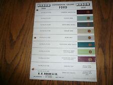 1950 NASON Color Chip Paint Sample - Vintage