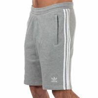 Mens adidas Originals Mens adicolor 3-Stripe Shorts in Grey - M
