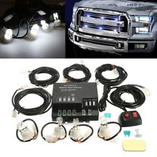 White 60W 4 HID Bulbs Hide Away Emergency Warning Flash Strobe Light Car